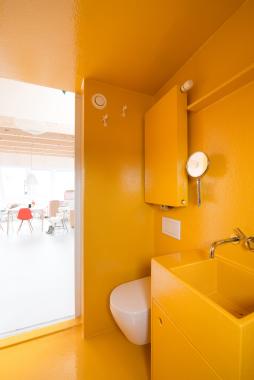 Interieur - Gele Badkamer